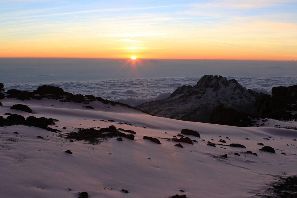 An Adventure Holiday Climbing Kilimanjaro - Sunrise Over Kilimanjaro