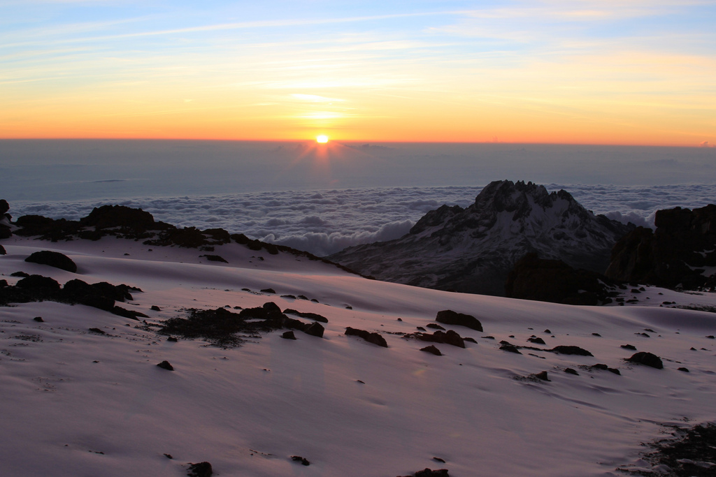 An Adventure Holiday Climbing Kilimanjaro - Sunrise Over Kilimanjaro