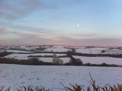 Devon Winter Landscape