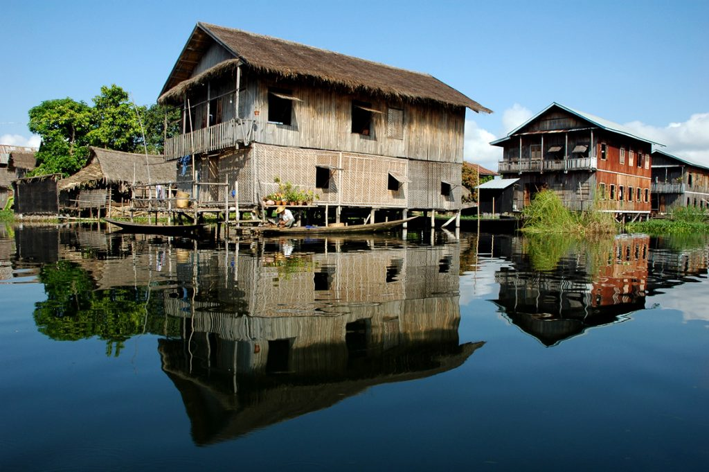 Floating Village at Inle Lake - Burma
