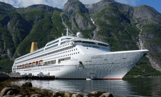 Cruising the Norwegian Fjords. - cruise ship Oriana