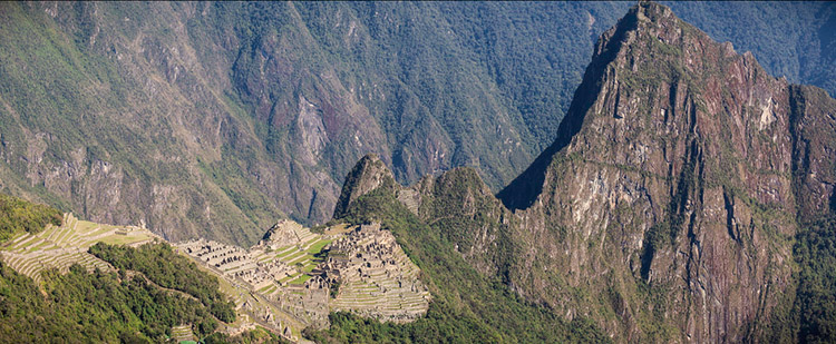 Huayna and Machu Picchu from the Inca Trail